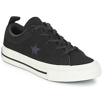 Scarpe Unisex bambino Sneakers basse Converse ONE STAR NUBUCK OX Nero / Bianco