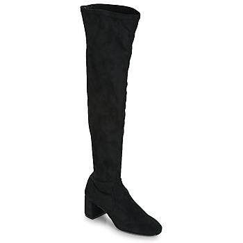 Schuhe Damen Kniestiefel Betty London JOUBITU Schwarz