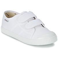 Schuhe Kinder Sneaker Low Victoria BLUCHER LONA DOS VELCROS Weiß
