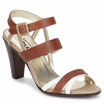 Schuhe Damen Sandalen / Sandaletten Karine Arabian JOLLY Kognac / Beige / Weiß