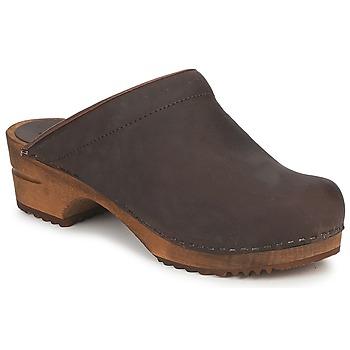 Chaussures Femme Sabots Sanita CHRISSY OPEN Marron