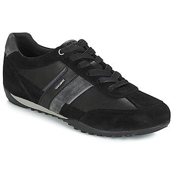Schuhe Herren Sneaker Low Geox U WELLS Schwarz / Marine