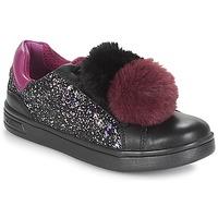 Chaussures Fille Baskets basses Geox J DJROCK GIRL Noir / Violet