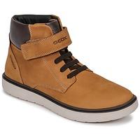 Scarpe Bambino Sneakers alte Geox J RIDDOCK BOY WPF Marrone