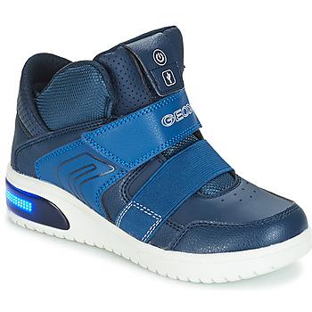Schuhe Jungen Sneaker Low Geox J XLED BOY Marine