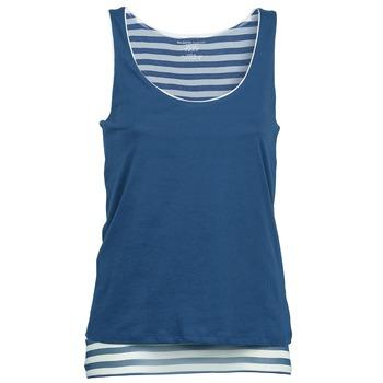 Vêtements Femme Débardeurs / T-shirts sans manche Majestic BLANDINE Marine / Blanc