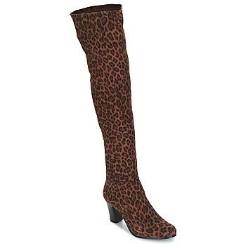 Chaussures Femme Bottes ville André PRISCA 3 Leopard