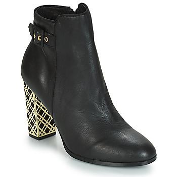 Schuhe Damen Low Boots André SOIR Schwarz