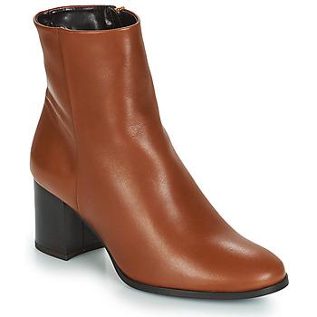 Schuhe Damen Low Boots André DARA Kamel