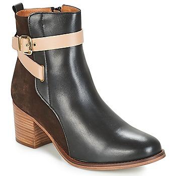 Schuhe Damen Low Boots André NATANAEL Schwarz