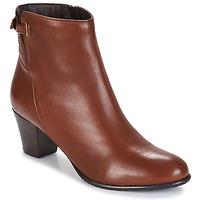 Schuhe Damen Low Boots André PASSIONA Cognac