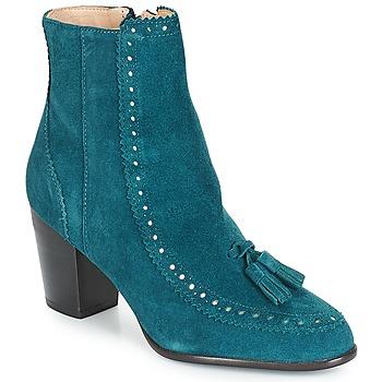 Schuhe Damen Low Boots André DORIANE Blau