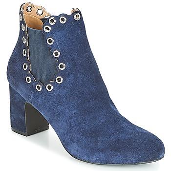 Schuhe Damen Low Boots André ALESSIA Marineblau