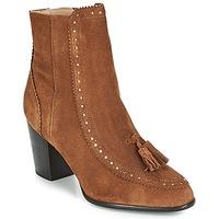Schuhe Damen Low Boots André DORIANE Kamel