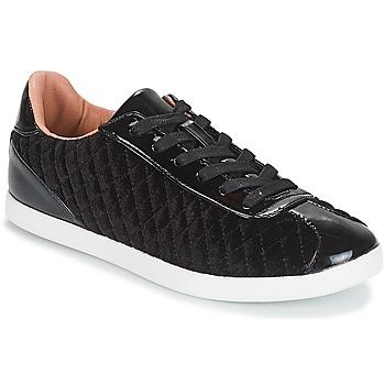 Schuhe Damen Sneaker Low André VELVET Schwarz