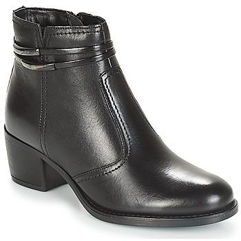 Schuhe Damen Boots André CALOTINE Schwarz