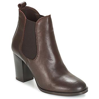 Schuhe Damen Low Boots André CLAFOUTI Braun,