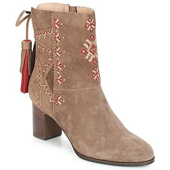 Schuhe Damen Low Boots André TZIGANE Beige