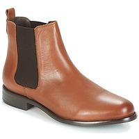 Schuhe Damen Low Boots André CARAMEL Braun,