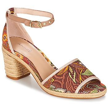 Chaussures Femme Sandales et Nu-pieds André JAKARTA Multicouleurs