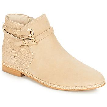 Schuhe Damen Boots André IDAHO Beige