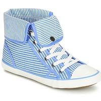 Schuhe Damen Sneaker High André GIROFLE Weiß / Blau