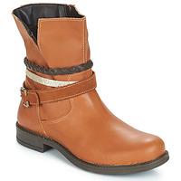 Schuhe Mädchen Boots Citrouille et Compagnie FURAMO Kamel