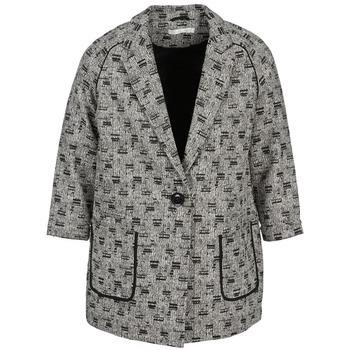 Abbigliamento Donna Cappotti See U Soon CARA Nero / Bianco