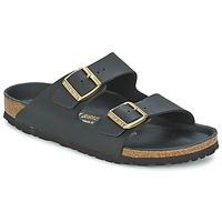 Schuhe Damen Pantoffel Birkenstock ARIZONA Schwarz / Goldfarben