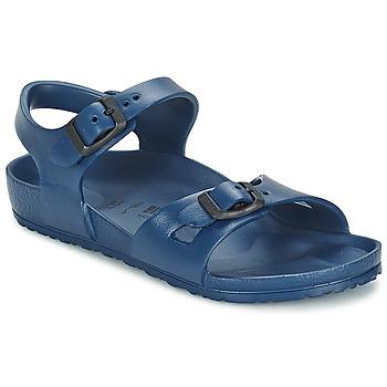 Schuhe Mädchen Sandalen / Sandaletten Birkenstock RIO EVA Marineblau