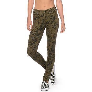 Vêtements Femme Jeans skinny Obey LEAN & MEAN Olive
