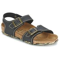 Schuhe Mädchen Sandalen / Sandaletten Birki's NEW YORK Schwarz