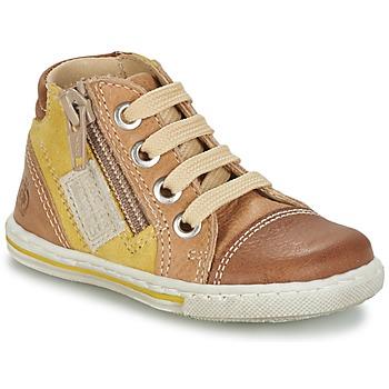Scarpe Unisex bambino Sneakers alte Citrouille et Compagnie MIXINE Marrone