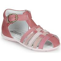 Scarpe Bambina Sandali Citrouille et Compagnie VISOTU Rosa / Multicolore