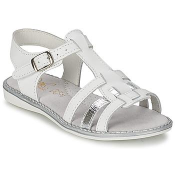Schuhe Mädchen Sandalen / Sandaletten Citrouille et Compagnie ROLUI Weiß