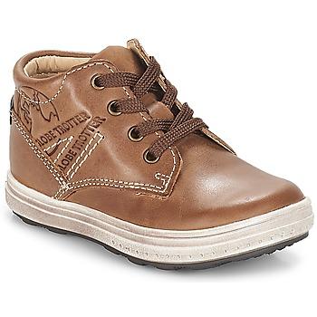 Chaussures Garçon Baskets montantes GBB NINO VTE MARRON DPF/GOMEZ