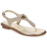 Schuhe Damen Sandalen / Sandaletten MICHAEL Michael Kors MK PLATE Gold