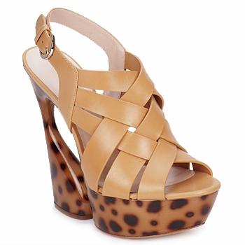 Schuhe Damen Sandalen / Sandaletten Casadei MAGGY Natur