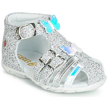 Schuhe Mädchen Sandalen / Sandaletten GBB RIVIERA Silbrig