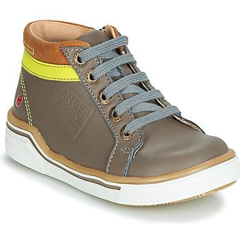 Scarpe Bambino Sneakers alte GBB QUITO Grigio / Giallo