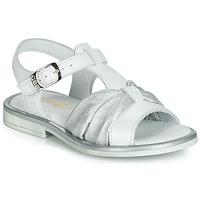 Schuhe Mädchen Sandalen / Sandaletten GBB MESSENA Weiß / Silbrig