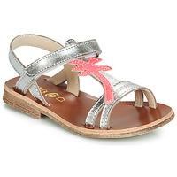 Schuhe Mädchen Sandalen / Sandaletten GBB SAPELA Silbrig