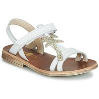 Schuhe Mädchen Sandalen / Sandaletten GBB SAPELA Weiß / Golden