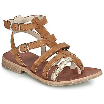 Schuhe Mädchen Sandalen / Sandaletten GBB NOVARA Kognac / Golden
