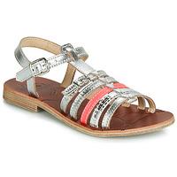 Schuhe Mädchen Sandalen / Sandaletten GBB BANGKOK Silbrig