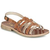Schuhe Mädchen Sandalen / Sandaletten Catimini NOBO Kognac / Golden
