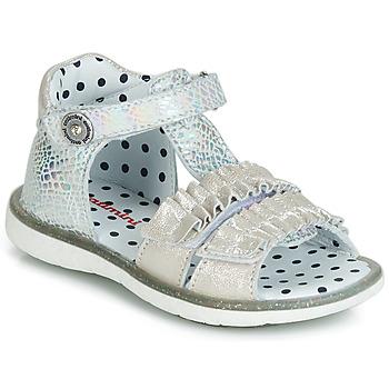 Schuhe Mädchen Sandalen / Sandaletten Catimini BIRA Silbrig / Beige