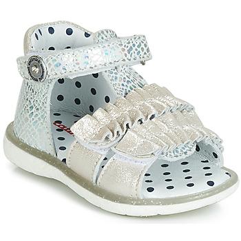 Schuhe Mädchen Sandalen / Sandaletten Catimini BIRA Silbrig