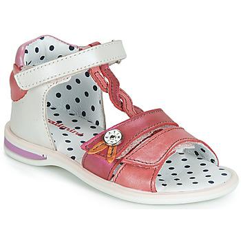 Schuhe Mädchen Sandalen / Sandaletten Catimini GOROKA Weiß / Rot