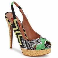 Scarpe Donna Sandali Missoni RM71 Verde